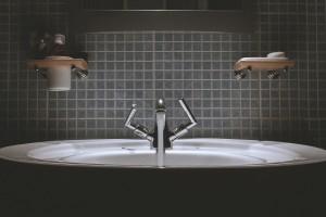 mała łazienka, umywalka